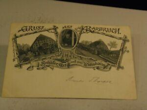 Gruss aus Radbruch, Schafer Ast und sein Wohnhaus Germany Postcard 1/17/21