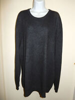 MEN'S CLUB ROOM 100% CASHMERE GRAY TINT WIDE CREW NECK LONG SLEEVES SWEATER XXL