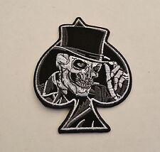 Skull Patch,Badge,666,Ace Of Spades,Biker,Kutte,Aufbügler,Totenkopf mit Zylinder