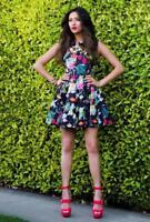 CAMILLA & MARC Botanical Floral Print Fit & Flare Revival Dress Fits AU8 $550