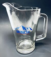 "Vintage 9"" Busch Beer Pitcher Thick Glass"