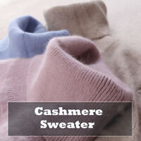 Women's Slim Knitted Turtleneck Cashmere Long Sleeve Jumper Pullover Sweaters