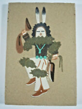 Vintage Navajo Sand Painting Yei bei chai Signed Wilson Price
