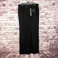 Faith Connexion Women's Wide Leg Sweater Pants Black Size 2XL