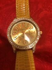 Lovely Yellow Leather Band Watch with Japanese Movement Rose Gold  (706)
