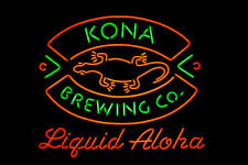 "New Kona Brewing Liquid Aloha Neon Sign 32""x24"""
