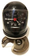 RARE 70s IMPORT VINTAGE - HEUER SPORTS HELMET CLOCK SWISS - NEDDS SOME REPAIR
