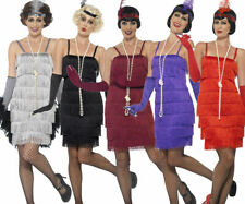 Ladies Charleston Flapper Costume Adults 1920s Gatsby Fancy Dress Womens New