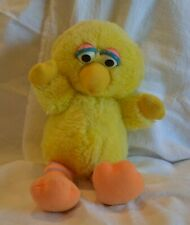 "Sesame Street Plush Stuffed Toy Baby Big Bird by Playskool 12"" Standing C 1983"