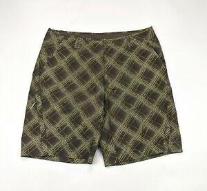 Columbia Titanium Mens Size 38 Plaid Omni Dry Board Shorts