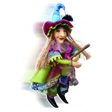Witches of Pendle - Alice Nutter Witch Flying (Floral) 24cm (WOPALICNUTT24FLOR)