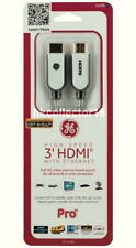 GE 3 ft High Speed HDMI Cable with Ethernet 1080P FULL HD NEW