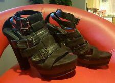 Zara Casual 100% Leather Block Heels for Women