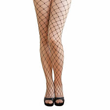 Sexy Schwarze Netz Strumpfhose - grobe Maschen Kostüm Fasching Karneval