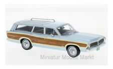 #47300 - Neo Ford LTD Country Squire - metallic-hellblau/Dekor - 1968 - 1:43