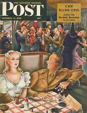 The Saturday Evening Post October 6 1945 Constantin Alajalov Birthday Gift