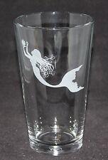 Mermaid Little Mermaid Ariel Symbol Custom Etched Pint Glass