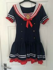 Ladies Sexy Short Sailor Fancy Dress Costume UK 8-10 Small