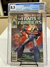 Transformers #1 Newsstand CGC 8.5 Origin & 1st App of Autobots & Decepticons