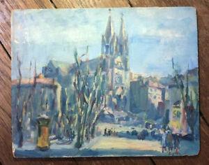 Tableau Ancien École de Rouen Fauvisme 1900 Mention Dos Robert Antoine Pinchon