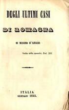 Libro Degli Ultimi Casi di Romagna Liberalismo Risorgimento Massimo D'Azeglio