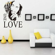 NEW-Bob Marley ONE LOVE Vinyl Mural Wall Sticker Home Decor for Music Fans