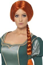 Womens Shrek Princess Fiona Wig Fancy Dress Book Week Accessory