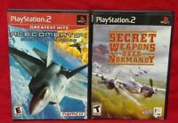 Ace Combat 4 + Secret Normandy - PS2 Playstation 2 Game Tested Working Complete