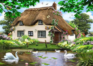 30x40 Swan Cottage Glass Worktop Saver Protector Chopping Board Heat Resistant