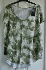 New Hollister wms/teens  top olive tie dye  S