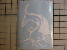 """Two 7"""" CATFISH Decal Sticker ANY COLOR Lake Fishing Boat Truck Car Window Bumper"""
