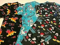 Disney Spring Scrub V Neck Top - You Pick - Nurse Medical Dental Veterinary NWT