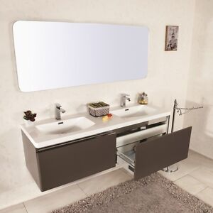 170cm x profondit/à muebles bonitos Mobile pensile sospeso Moderno Modello Amalfi Bianco Nero Anta Lucida Larghezza 29 cm Lettiemobili 40cm x Altezza