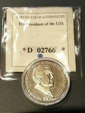 2004 Liberia $10 Dollar George W. Bush Coin American Mint wCOA & OGP D 02766
