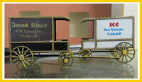RS LASER 2508 HO Scale Delivery Wagons 2 Early 1900 Unpainted Wood Kit FREE SHIP