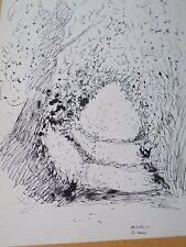 Edouard GOERG (1893-1969)-Australie-Dessin original-Paysage-1949-drawing