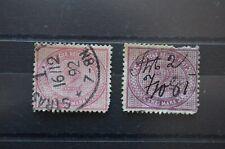 Timbres classiques oblitérés Allemagne n°43 et 43a