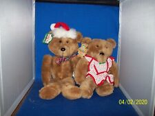 "1984 Vintage 15"" Christmas Beau & Bea Bear Couple with Tags"