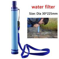 Water Straw Tube Filter Purifier Survival For Outdoor Camping Hiking New