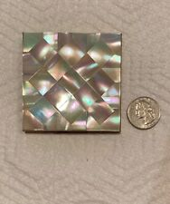Vintage Signed Elgin American Mother Of Pearl Compact