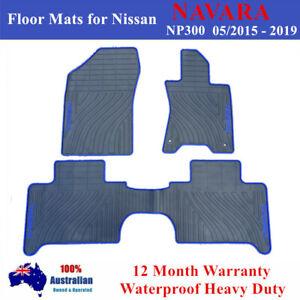 Heavy Duty Rubber Floor Mats Tailor Made for Nissan Navara NP300 2015 - 2020