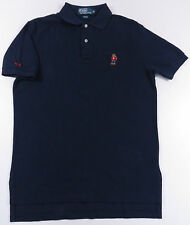 VTG RALPH LAUREN POLO BEAR NAVY BLUE S/S SHIRT P-WING USA LO LIFE STADIUM EUC M