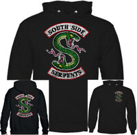 Southside Serpents Mens Funny Riverdale TV Show Distressed Hoodie US Programme