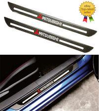 Mitsubishi Carbon Fiber Car Door Welcome Plate Sill Scuff Cover Decal Sticker x2