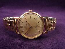 Serviced~Near Mint~1960s MOERIS 620~17J Swiss~Gold Plated European Mens Watch