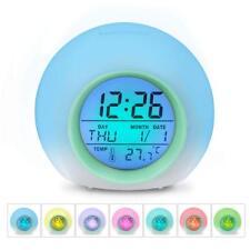 Sveglia Digitale Sveglia per Bambini HAMSWAN Sveglia con 7 Colori di luci LED...
