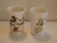 Vintage Walt Disney Mickey Mouse Donald Duck Pluto Juice Cup (2) Cups ~ Disney