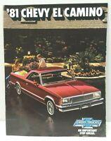 1981 Chevrolet EL CAMINO Dealer Sales Brochure ORIGINAL 81 Chevy PickUp Truck