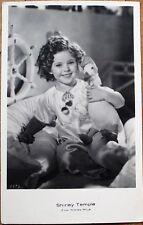 Shirley Temple 1930s Realphoto Movie Star Postcard - Toy Duck - Riga, Latvia