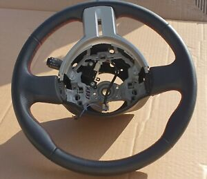 Toyota 86 ZN6 Black Leather Steering Wheel with RED stitching
